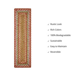 Azalea Multi Color Jute Stair Tread or Table Runner