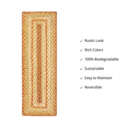 Harvest Beige Jute Stair Tread or Table Runner
