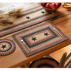 Primitive Star -Gloucester Jute Stair Tread Or Table Runner