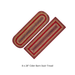 Cider Barn Red Jute Stair Tread or Table Runner