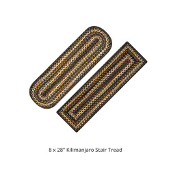 Kilimanjaro Black - Color Jute Stair Tread or Table Runner