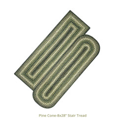 Pinecone Jute Stair Tread Or Table Runner