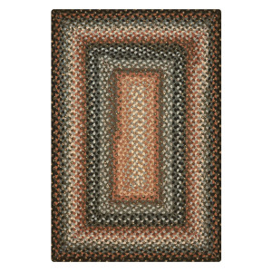 Cocoa Bean Black - Grey Cotton Braided Rugs