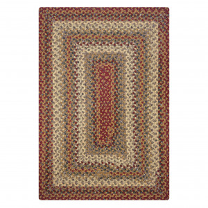 Pumpkin Pie Multi Color Cotton Braided Rugs