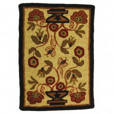 2' x 3' Potted Flower Hooked Rugs