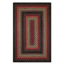 Oklahoma Black- Red Jute Braided Rugs