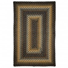 Mckinley Black - Gold Ultra Wool Braided Rugs