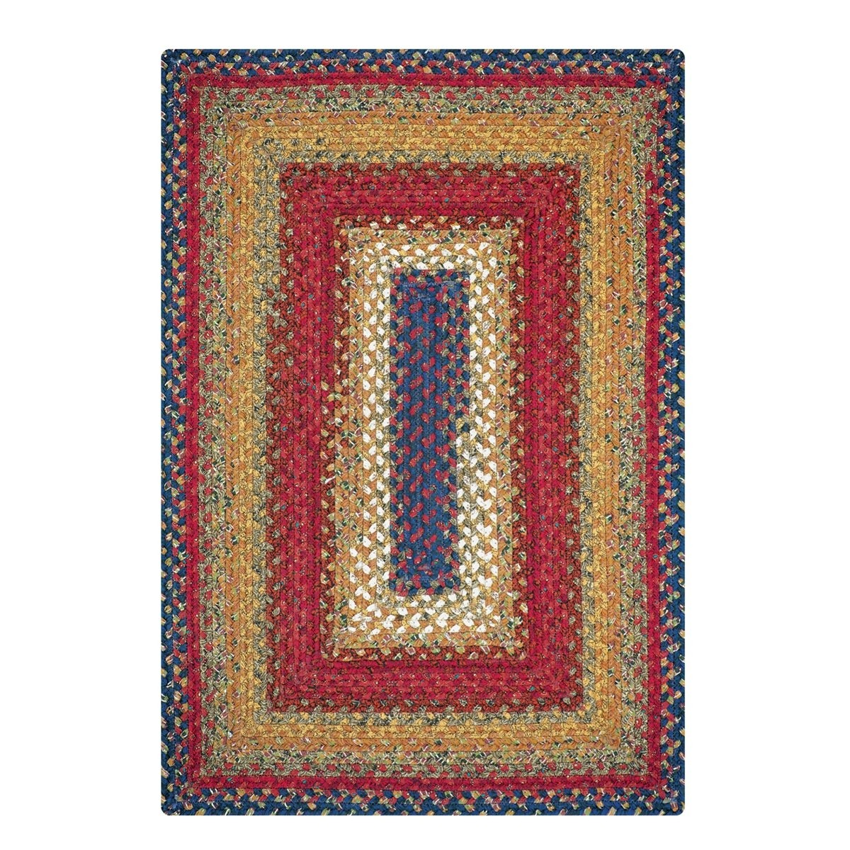 Braided Rug For Living Room: Log Cabin Step Cotton Braided Rugs