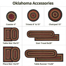 Oklahoma Black - Red Jute Braided Accessories
