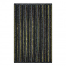 Bristol Avenue Black - Multi Ultra Durable Braided Rugs