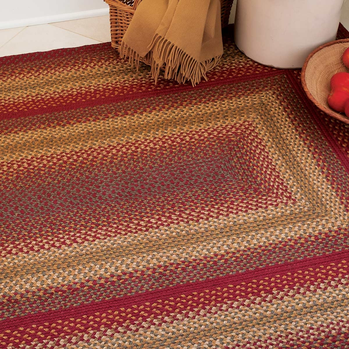 Buy Cider Barn Red Jute Braided Rugs Online Homespice