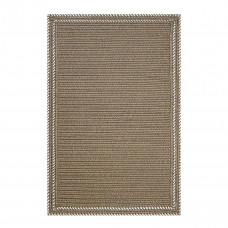 Somerset Horizon Taupe - White Ultra Durable Braided Rugs