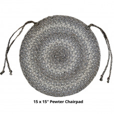 "15"" Pewter Ultra Durable Chairpad"