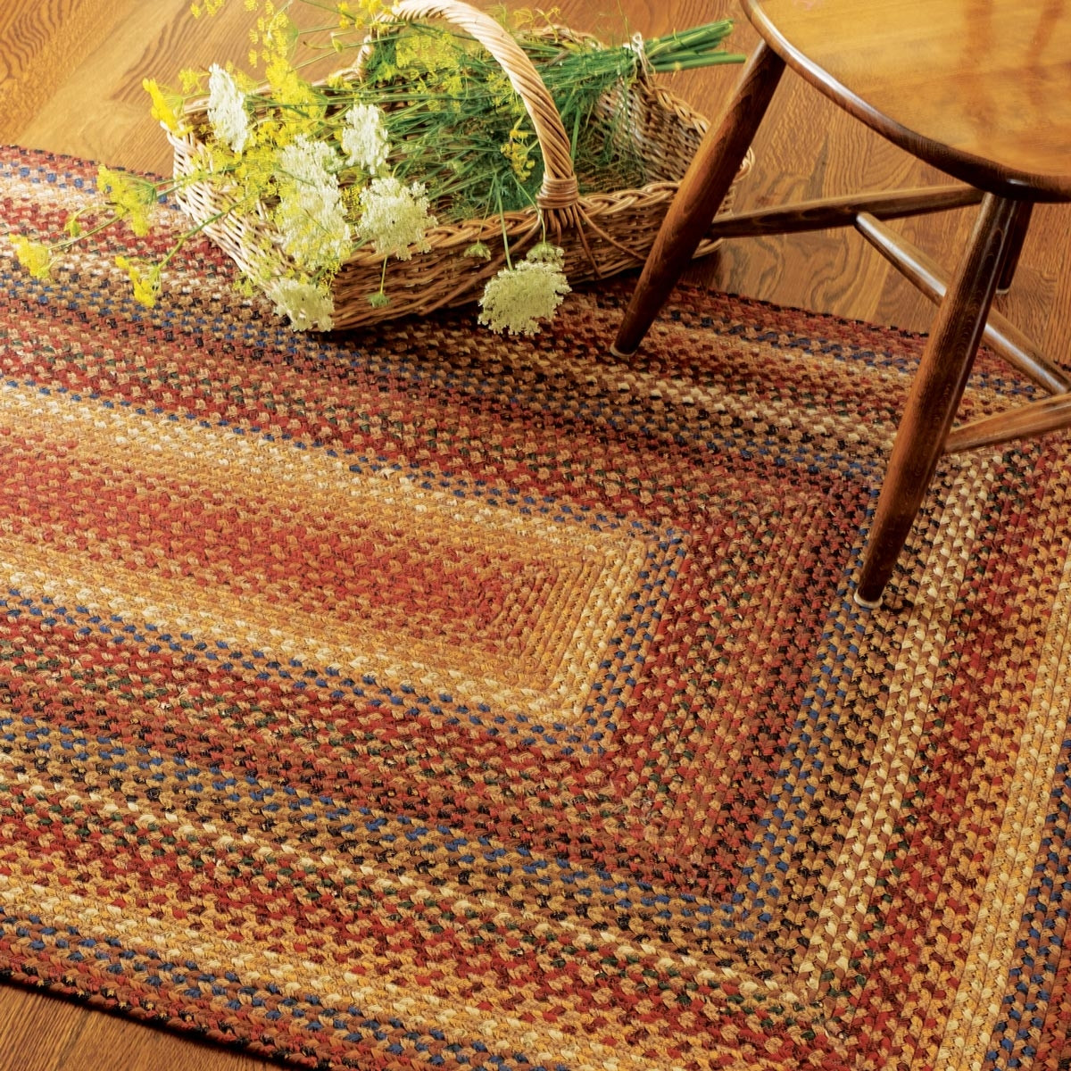 Buy Biscotti Multi Color Cotton Braided Rugs Online
