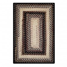 Black Mist Outdoor Braided Rugs