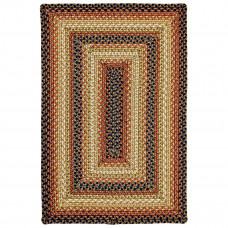 San Antonio Black - Burdundy Ultra Wool Braided Rugs