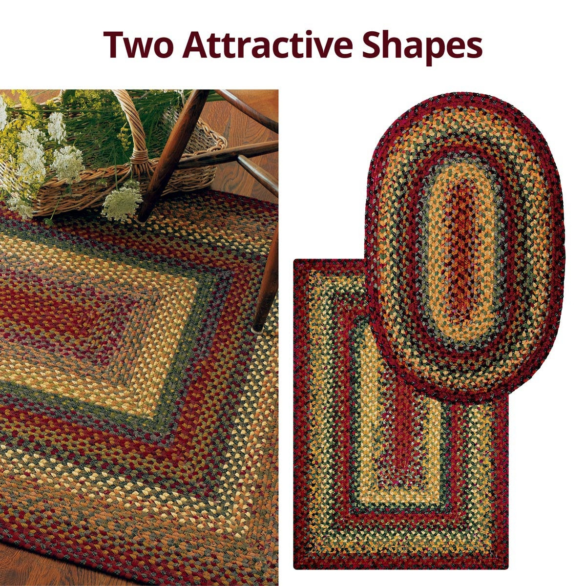 Buy Neverland Multi Color Cotton Braided Rugs Online