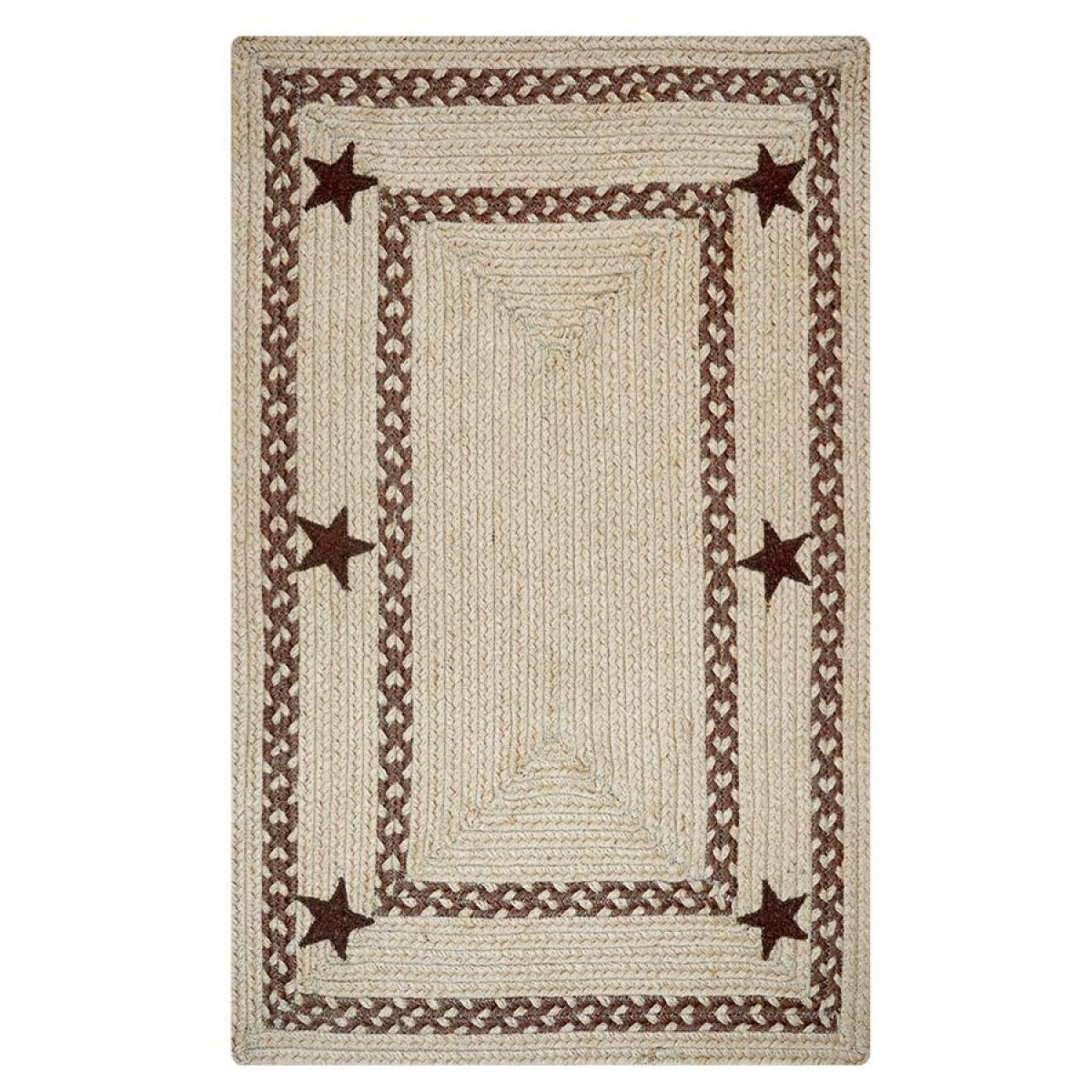 Wholesale Country Primitive Home Decor: Buy Texas Brown Jute Braided Rugs Online