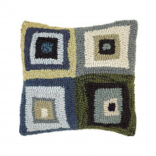 12 x 12'' Squares Blue Pillow