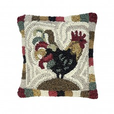 12 x 12'' Rooster Red Pillow