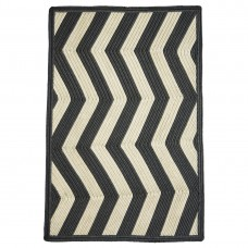 Sable Ivory Outdoor Chevron Braided Rugs