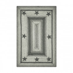 Primitive Star - Plymouth Grey Jute Braided Rugs