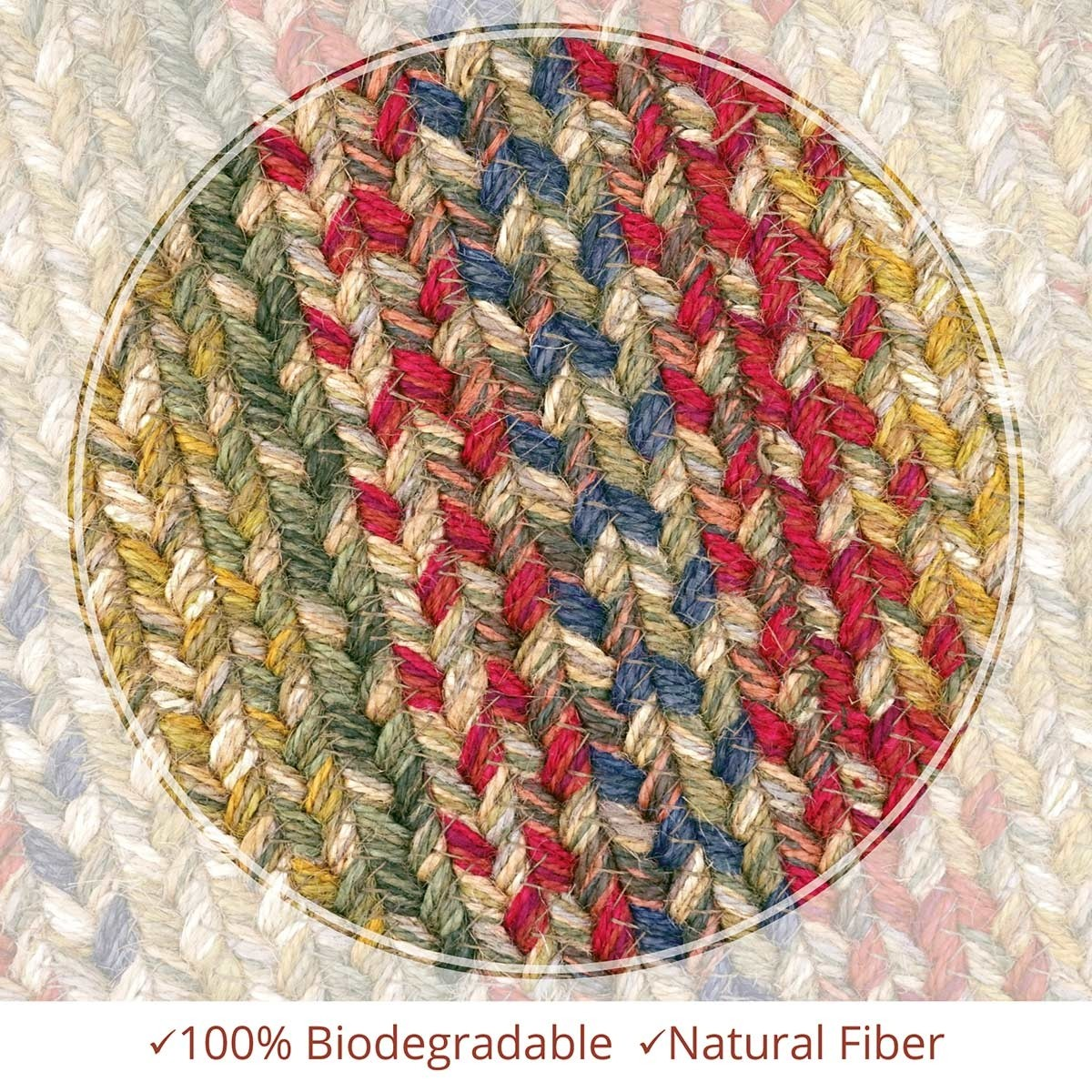 Buy Azalea Multi Color Jute Braided Rugs Online Homespice