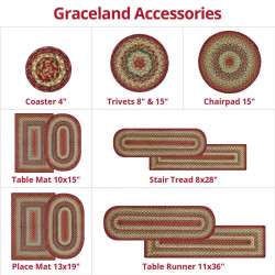 Graceland Multi Color Jute Braided Accessories