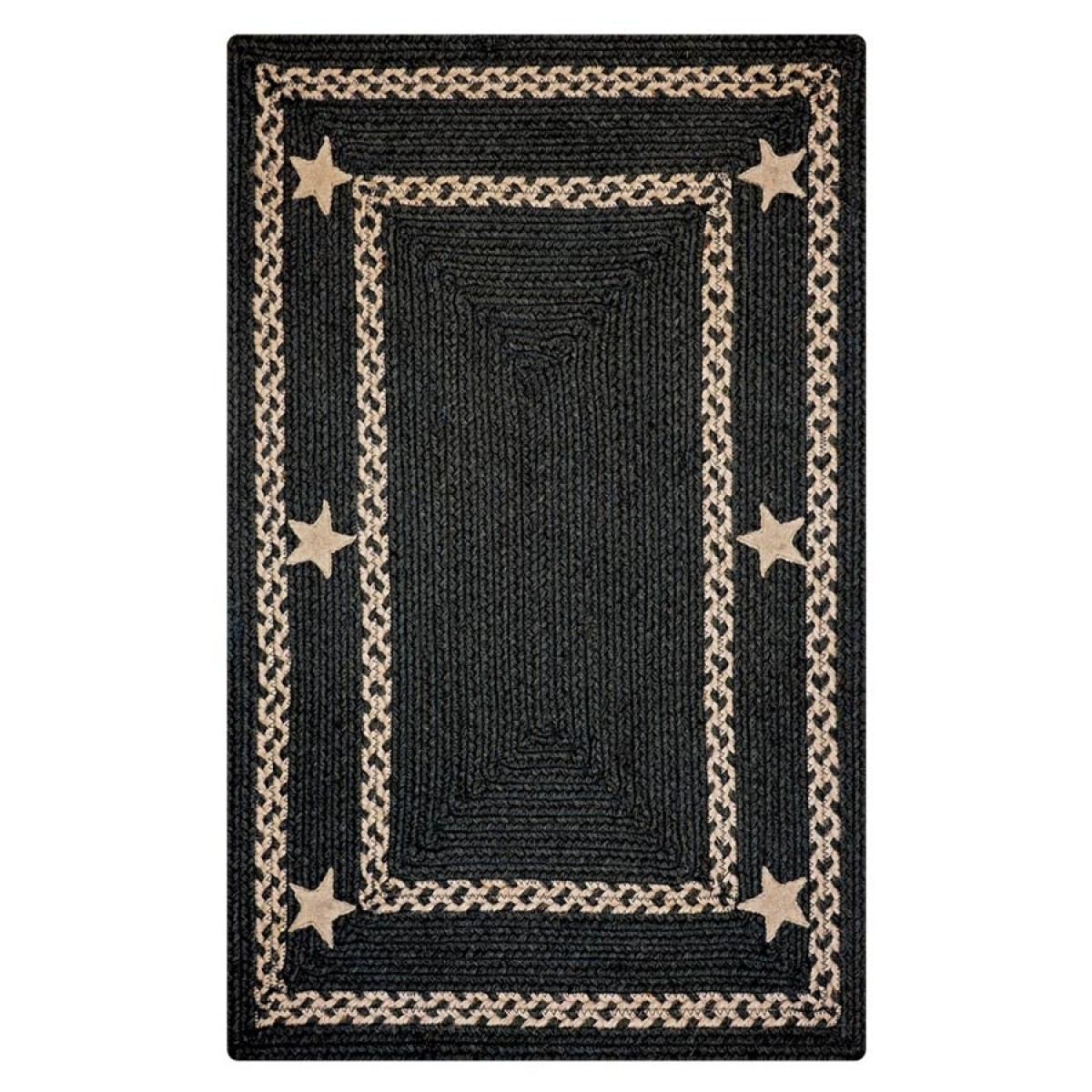Buy Texas Black Jute Braided Rugs Online Homespice