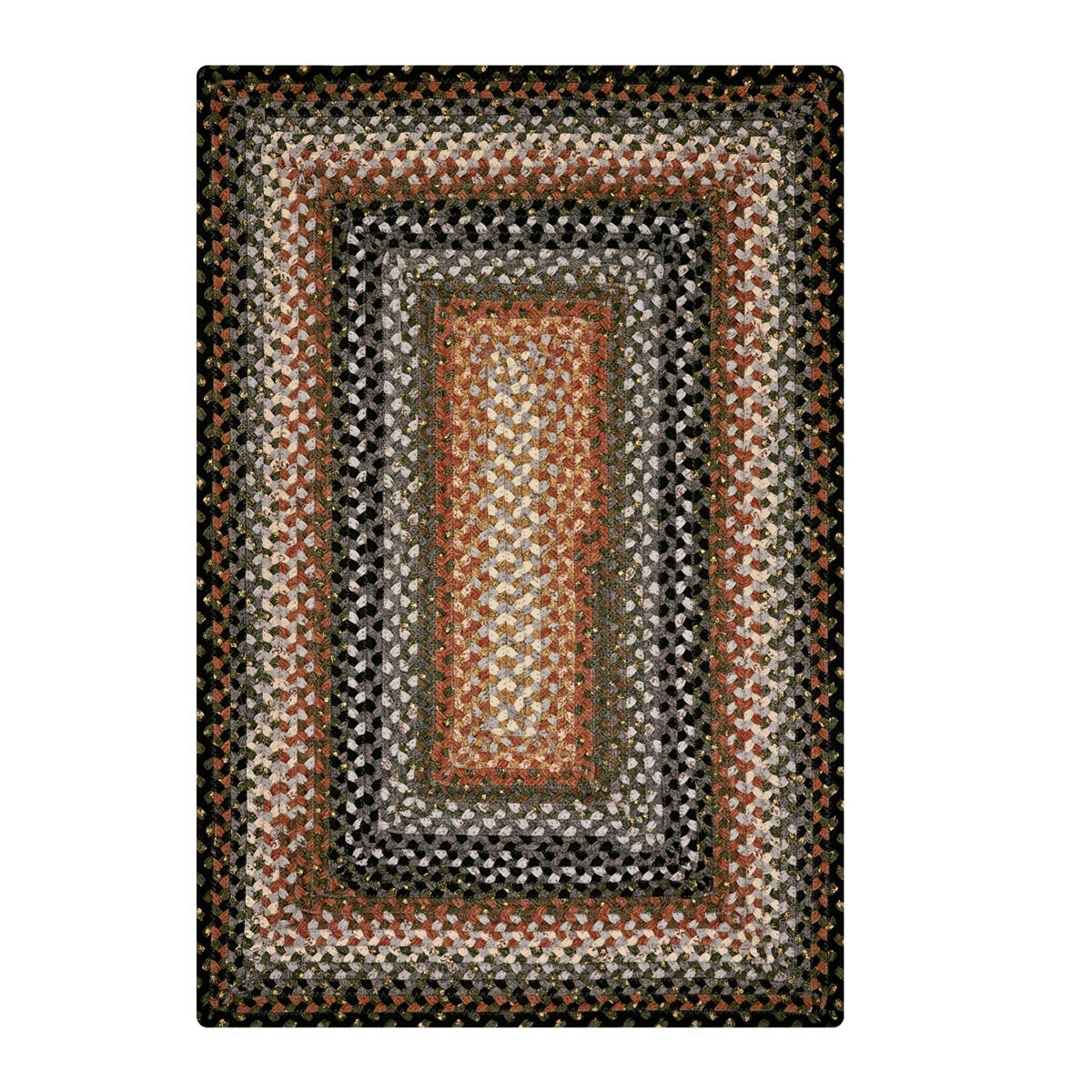 Used Oval Braided Rugs: Grey Cotton Braided Rugs Online