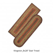 Kingston Multi Color Jute Stair Tread or Table Runner