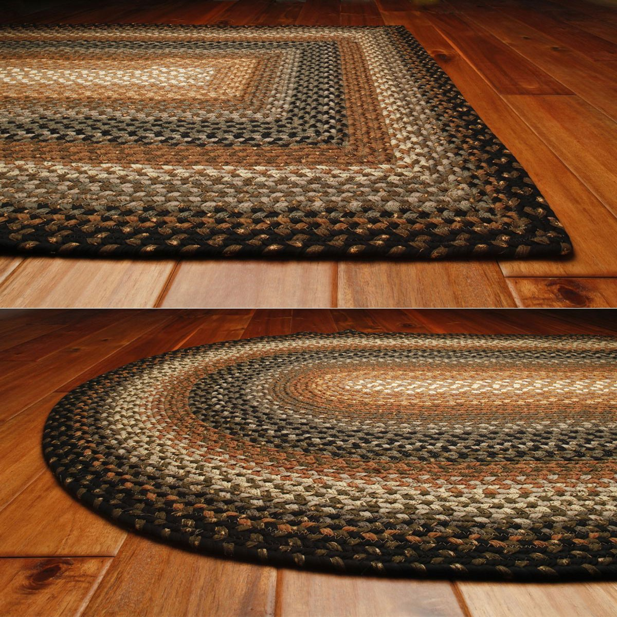 Cocoa Bean Cotton Braided Rugs