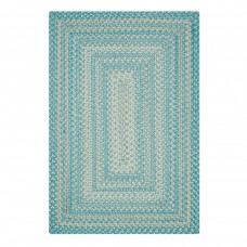 Waterfall Blue Ultra Wool Braided Rugs