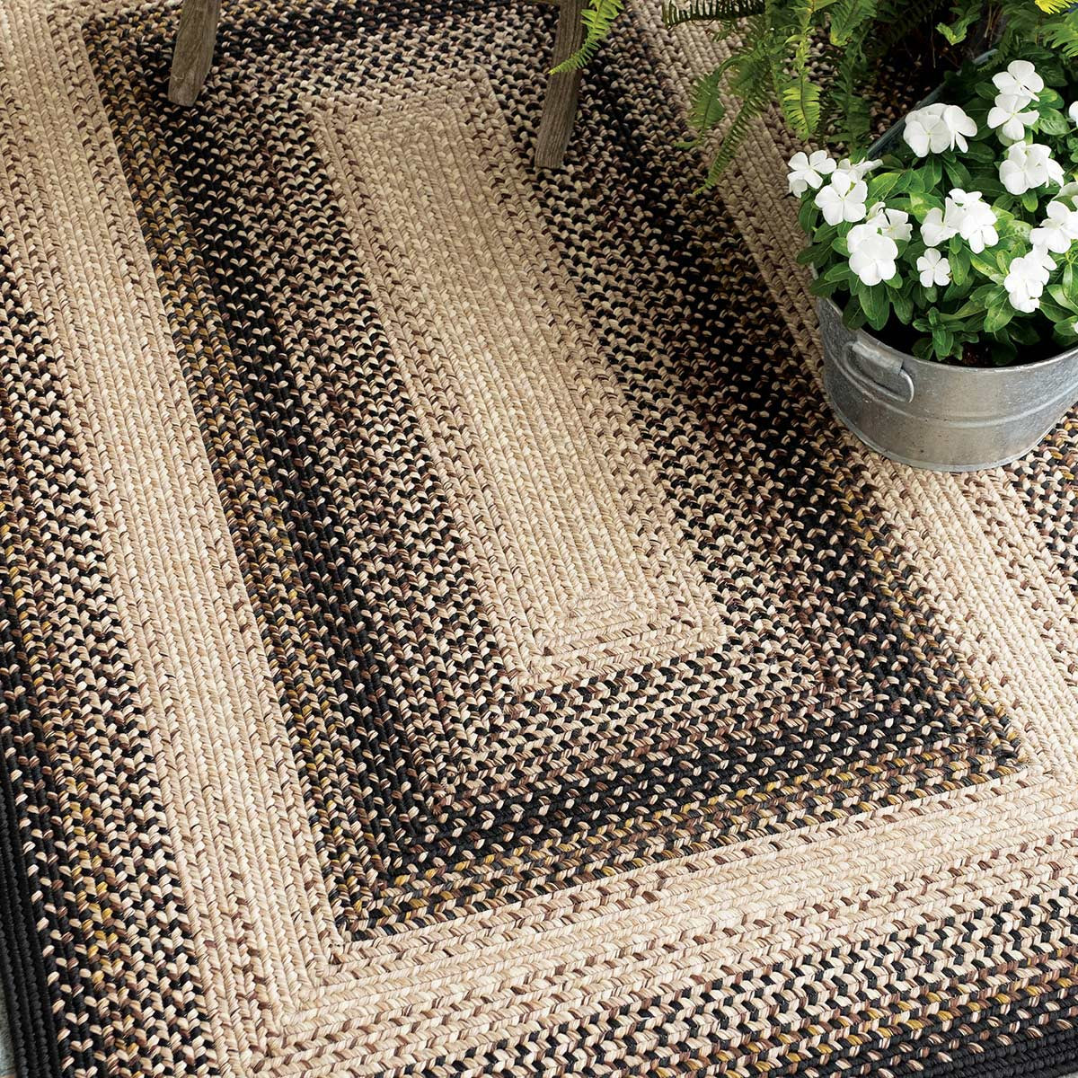 Buy Black Mist Outdoor Braided Rugs Online Homespice