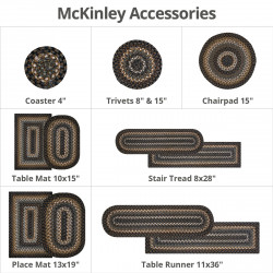 McKinley Black - Gold Ultra Wool Braided Accessories