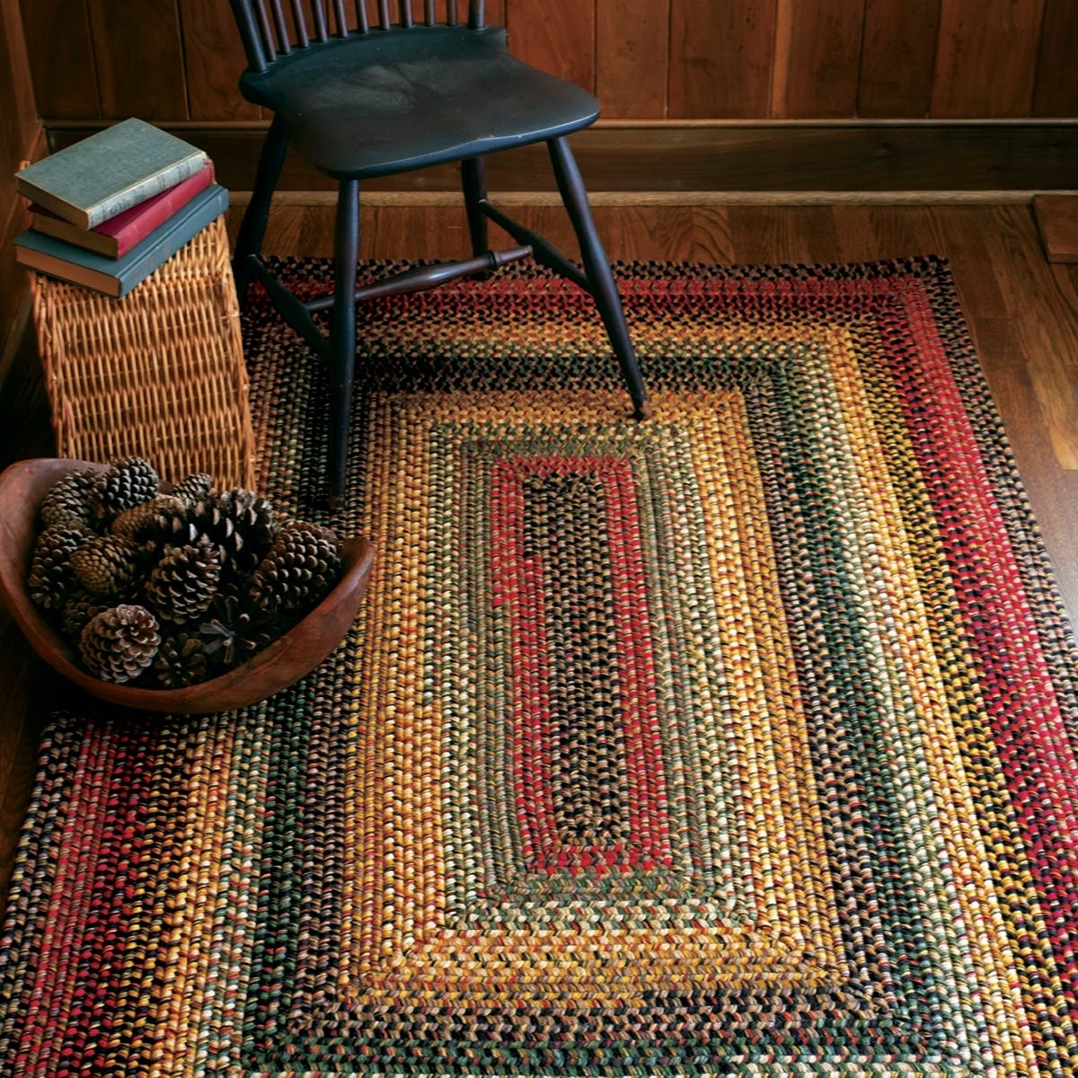 Buy Budapest Multi Color Wool Braid Rugs Online - Homespice