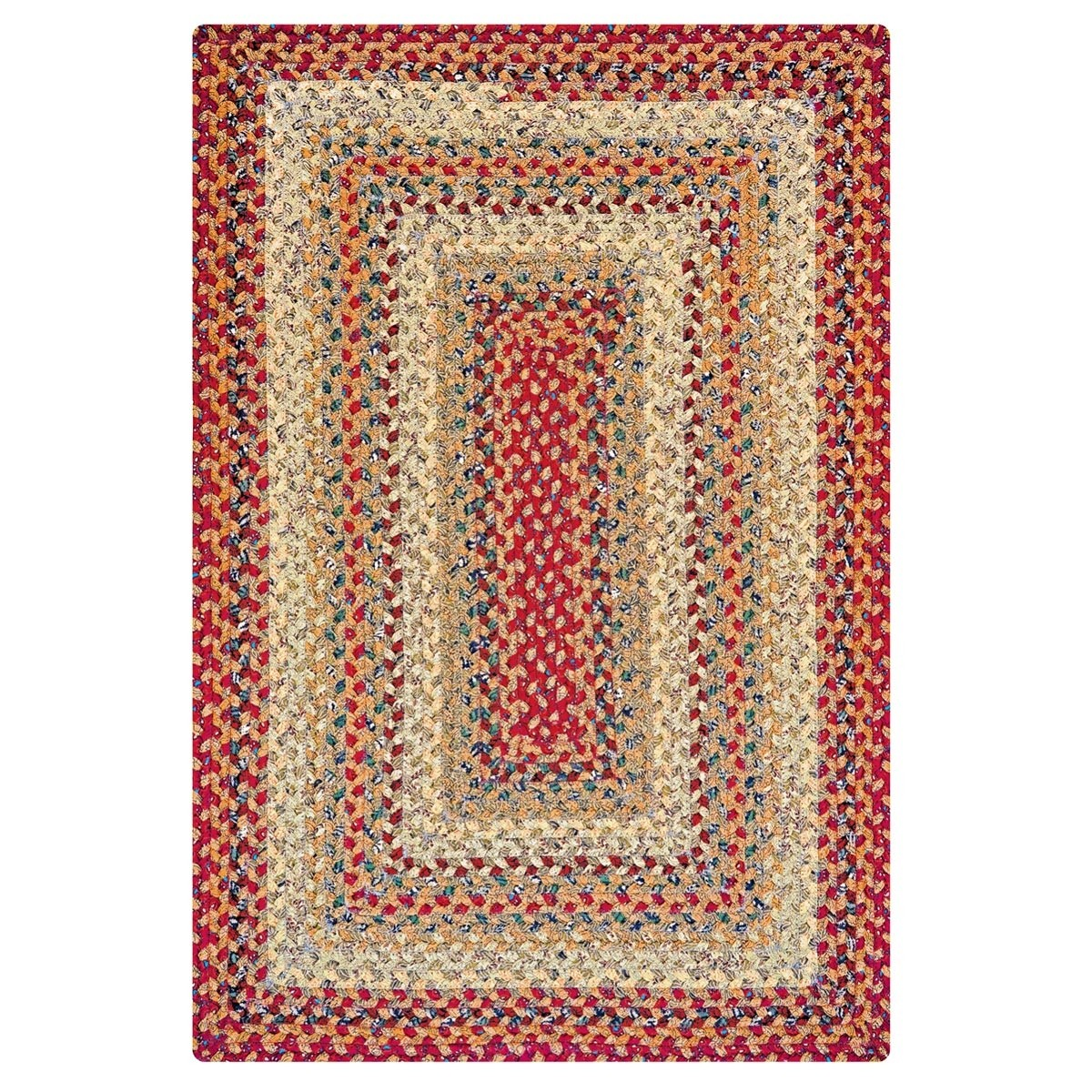 Braided Rug For Living Room: Pumpkin Pie Cotton Braided Rugs