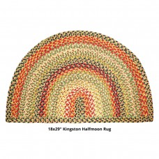 "18 x 29"" Half Moon Kingston Jute Braided Rugs"