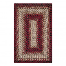Jasper Burgundy Ultra Durable Braided Rugs