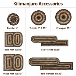 Kilimanjaro Black - Cream Jute Accessories