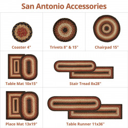 San Antonio Black - Burgundy Ultra Wool Braided Accessories