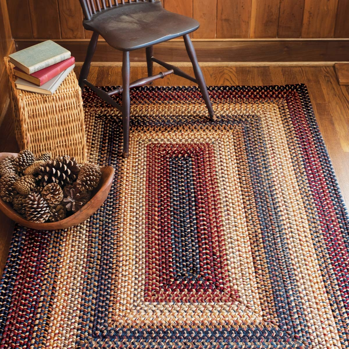 Buy Cambridge Multi Color Wool Braid Rugs Online Homespice