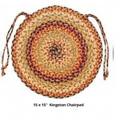 "15"" Kingston Chair Pads Round Jute"