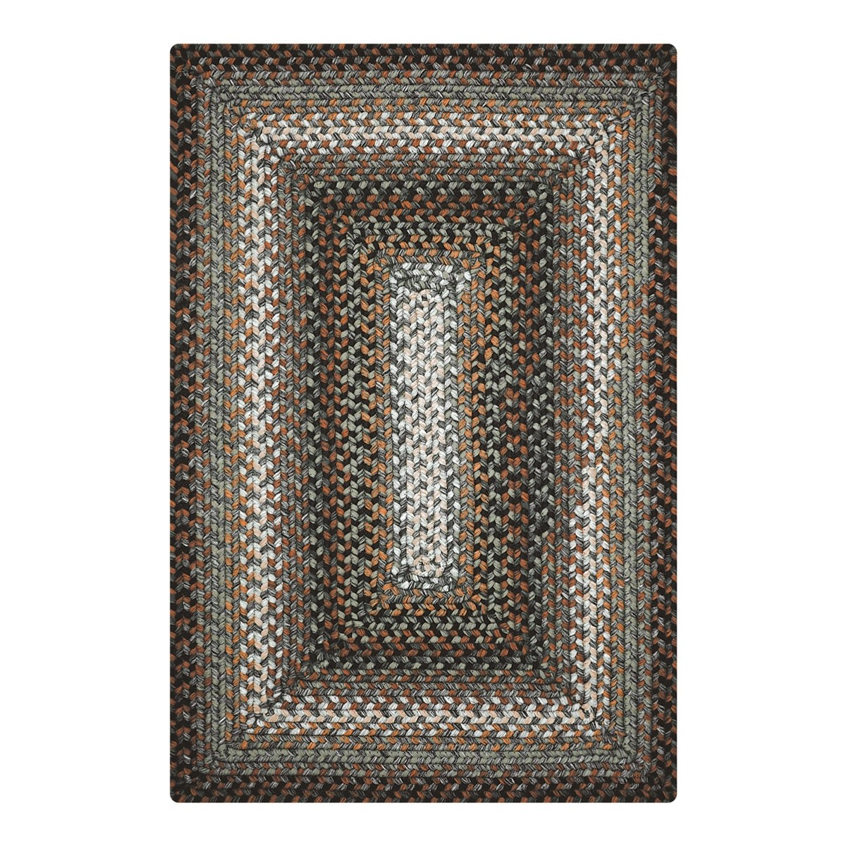 Buy Midnight Moon Brown Grey Ultra Durable Braided Rugs