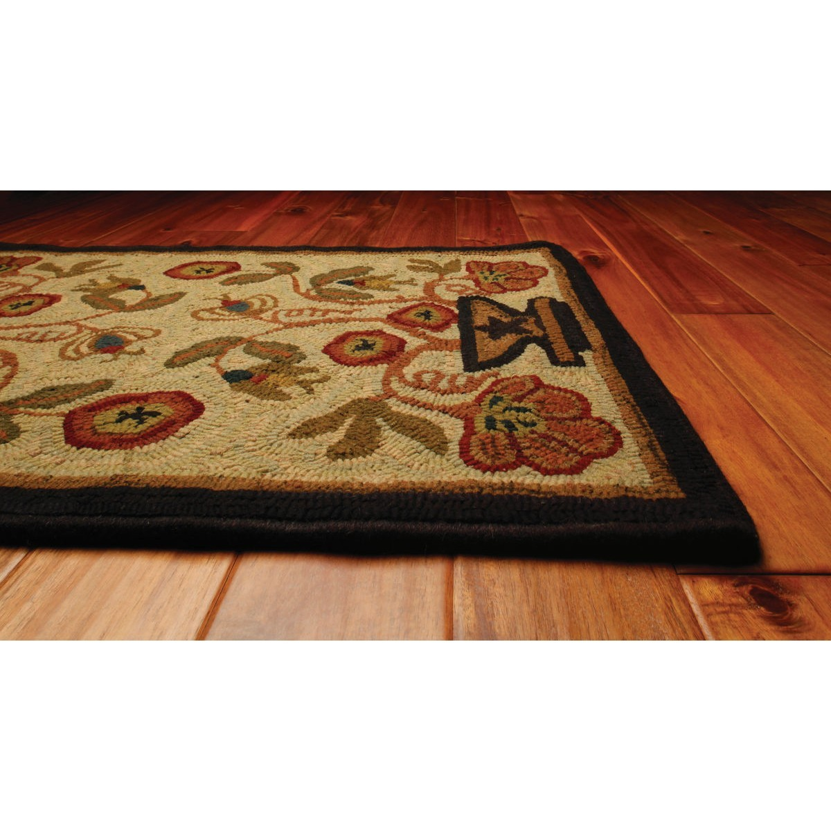 Home Rugs Hooked Wool Potted Flower Pattern