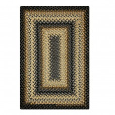 Chapel Hill Grey - Gold Cotton Braided Rugs
