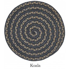 3' x 3' Swirl Koala Round Outdoor Braided Rug