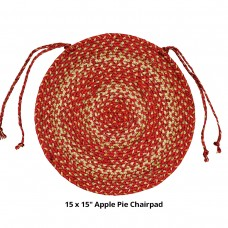 "15"" Apple Pie  Chair Pads (Round)"