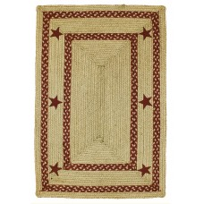 Texas Red Jute Braided Rugs