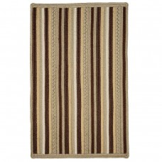 Portsmouth Stripe Brown Ultra Wool Braided Rugs